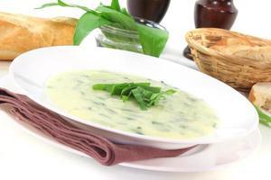 zuppa di aglio selvatico foto