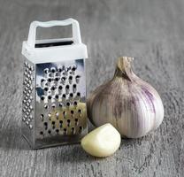 grattugia aglio. macro foto