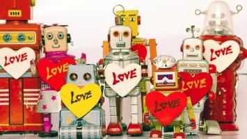 famiglia di robot foto