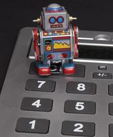 robot di calcolo foto