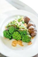 broccoli con salsa di ostriche foto