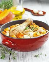 pollo al forno con zucca foto