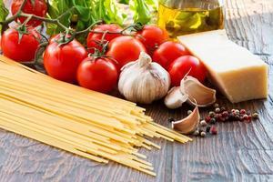 ingridients pasta cruda