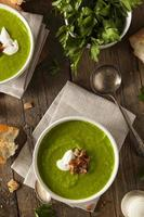 zuppa di piselli primavera verde fatta in casa
