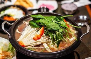 piatto caldo coreano foto