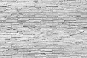 muro di mattoni moderno. muro di roccia foto