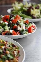 tris di insalate fresche foto