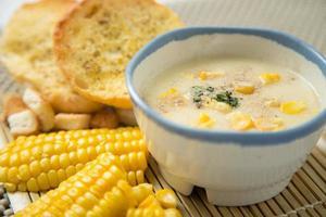 zuppa di crema di mais foto