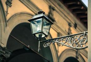 fotografia di un lampione a firenze, tucson, italia foto