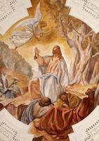palermo - affresco di gesù nel Getsemani foto