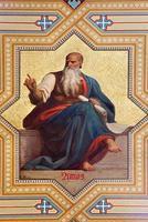 vienna - affresco del profeta amos foto