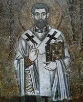 affresco nella cattedrale di santa sophia, kiev foto