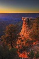 parco nazionale del grand canyon - orlo del sud al tramonto foto