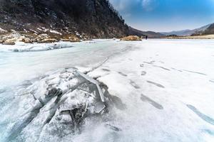 fiume d'inverno foto