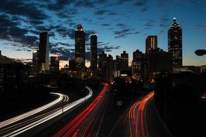 tramonto ad atlanta, ponte di jackson foto
