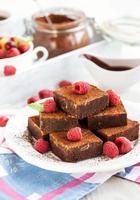 brownies al cioccolato fatti in casa foto