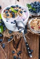 yogurt ai mirtilli foto