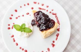 cheesecake ai mirtilli foto