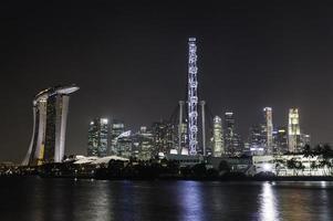 città di Singapore di notte