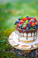 torta di bacche estive foto