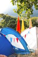 campeggio vuoto al festival di musica