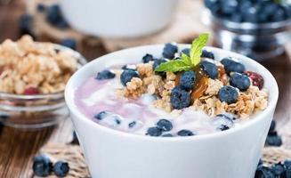 porzione di yogurt ai mirtilli foto