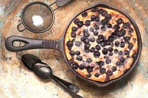 cheesecake di ricotta casseruola con mirtilli.