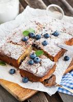 torta di mirtilli fatta in casa