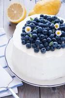 torta di mirtilli al limone foto