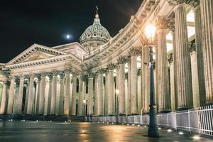 Cattedrale di Kazan o kazanskiy kafedralniy sobor, punto di riferimento di st. Petersburg foto