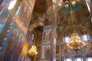 san pietroburgo all'interno della chiesa foto
