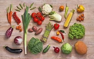 sfondo di cibo sano foto