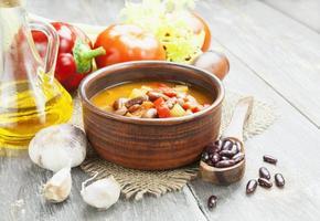 zuppa con fagioli foto