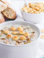 zuppa di molluschi e latte stile new england foto