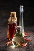 olio per condimento per insalata foto