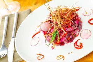 vinaigrette, insalata russa foto