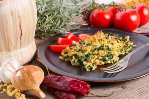 noodle di spinaci al gratin foto