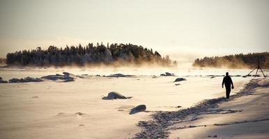 paesaggio invernale, russia foto