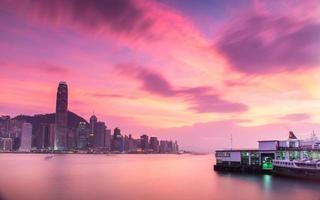 paesaggio di Hong Kong foto