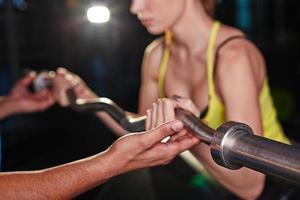 allenamento con peso foto