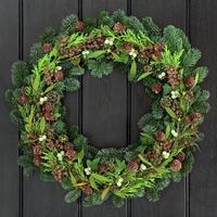 ghirlanda invernale tradizionale foto