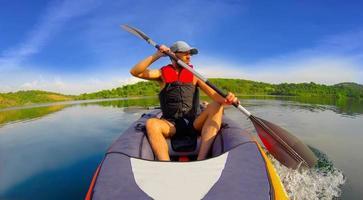 passeio de kayak. foto