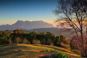 paesaggio doi luang chiang dao. Tailandia