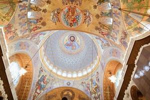 il dipinto sulla cupola della cattedrale del mare nikolsokgo foto