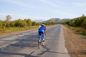 corsa in bicicletta