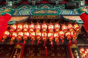 chiuso la lattern in tempio cinese foto