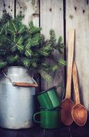 decorazione invernale rustica foto