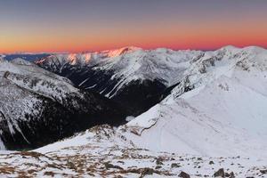 inverno di Tatra in Polonia