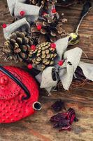 natura morta invernale con tè foto