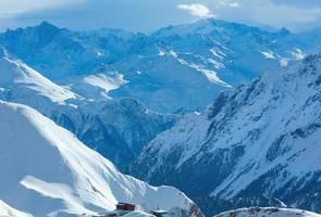 silvretta alps winter view (austria). foto